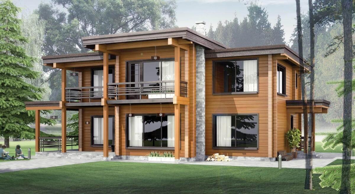 Дома из клееного бруса — новая тенденция в архитектуре